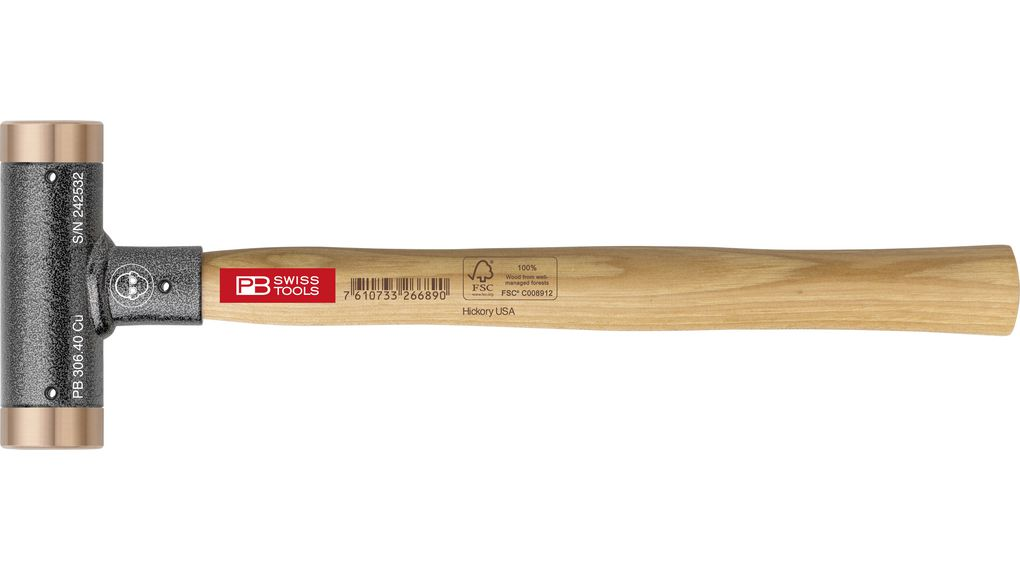 Pb 306 24 Cu Dead Blow Mallet Copper 290mm Pb Swiss Tools Dead blow hammers use physics to limit peak force and minimize rebounds when striking various objects. distrelec