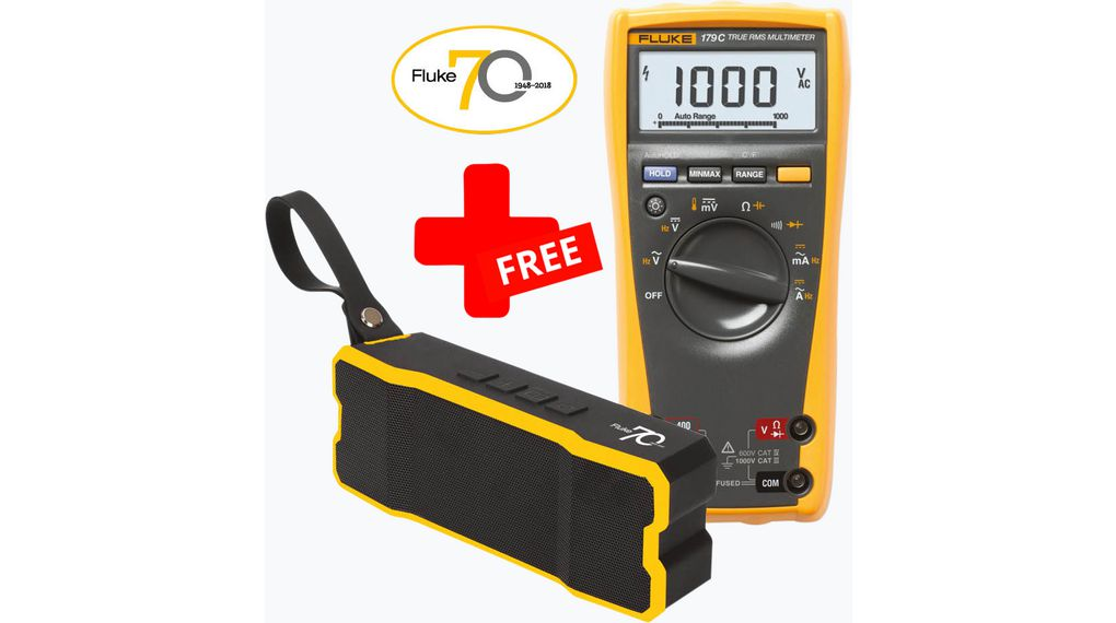 Fluke 179 True-RMS Digital Multimeter + FREE Bluetooth® Speaker  FLUKE-179/SP TRMS AC