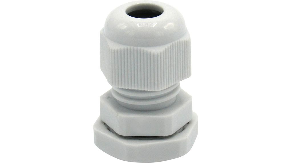 Buy Cable gland M12 x 1.5 3...6.5 mm x 8 mm Nylon Grey, RAL 7035 IP68
