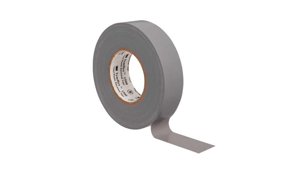 3M 1500 Industrial Electrical Tape Sticky Roll Lead Free Insulation Black