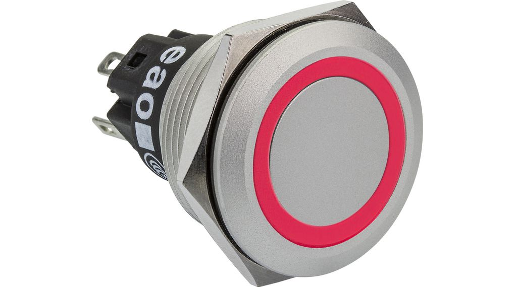 Buy Illuminated Pushbutton Red 22.3mm 12V 3 A 1 Change-Over (CO)