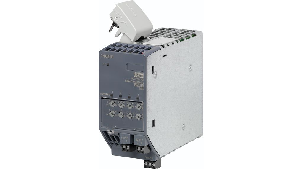 Buy Extension Module, CNX8600 4x10 A for PSU8600, Adjustable, 24 V / 10, 960 W, SITOP CNX8600