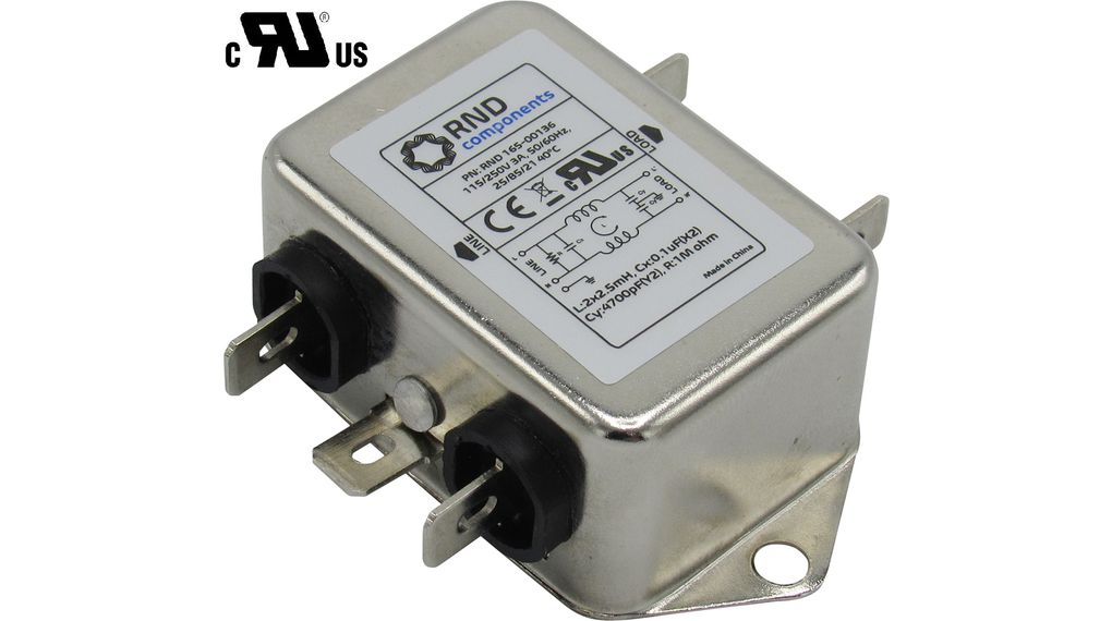 Buy Mains Filter, 3 A, 250 VAC
