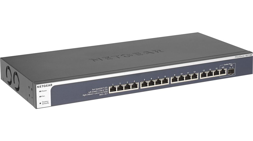 ProSAFE Plus Switch, 16x 100/1000/10000 1x SFP Managed