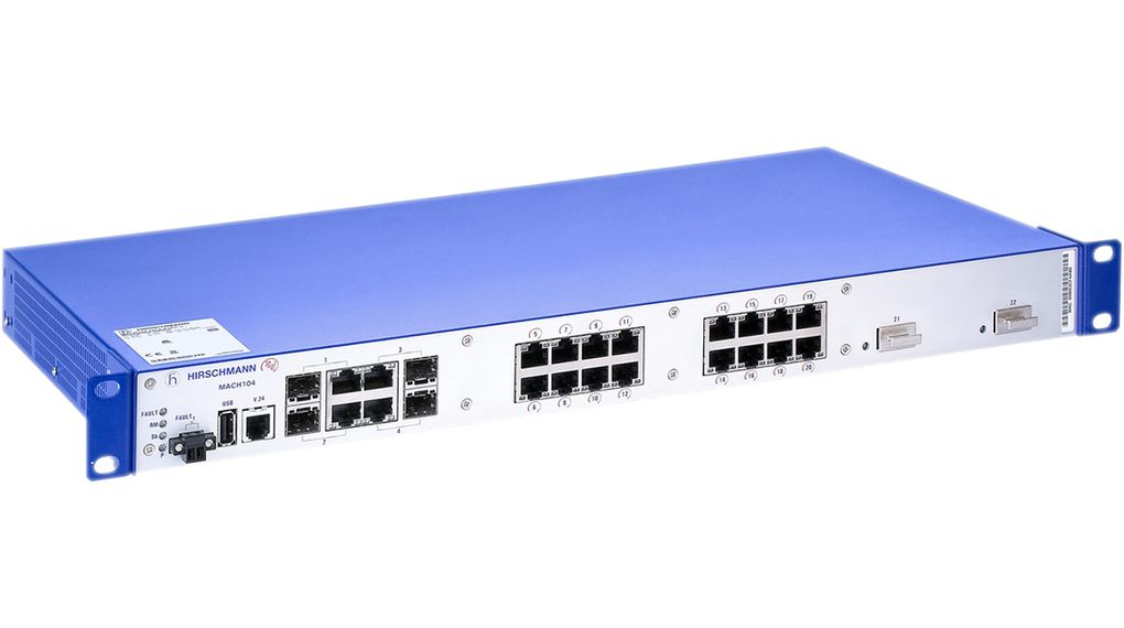 Industrial Ethernet Switch 20x 100/1000 SPF/4x SFP