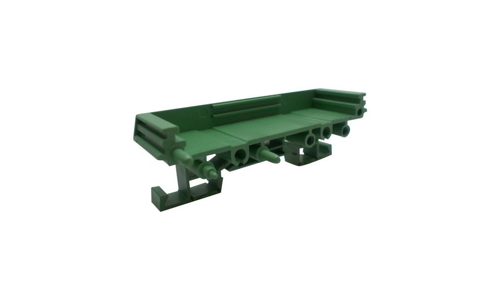 Buy Mini DIN Rail Support End Section with Foot 40x22.5x92mm Green Polyamide IP20