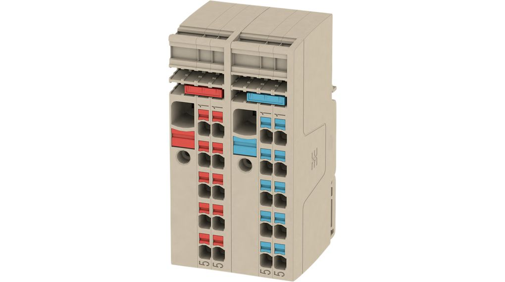 Buy Terminal block Push-In, 0.5...10 mm² 800 V 57 A Beige/Red/Blue