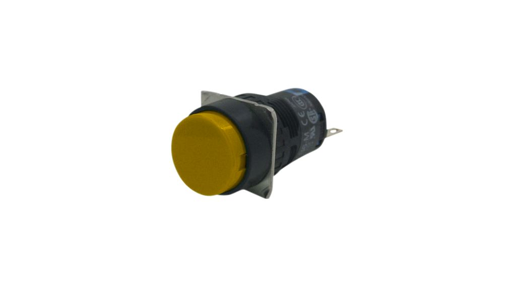 Pushon Switch 2CO Latching Function Yellow on