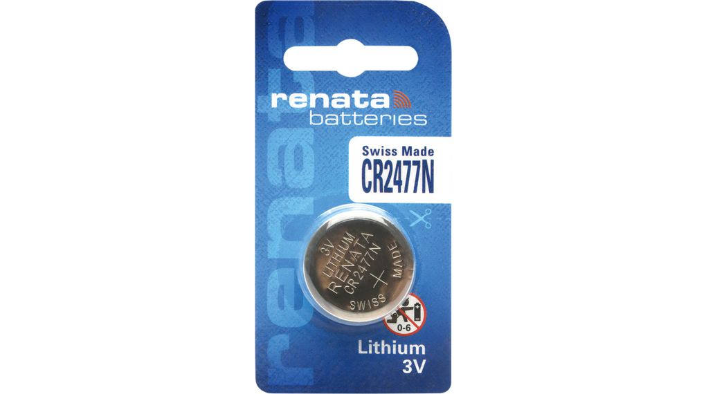 Buy Button Cell Battery, Lithium Manganese Dioxide 3 V 950 mAh