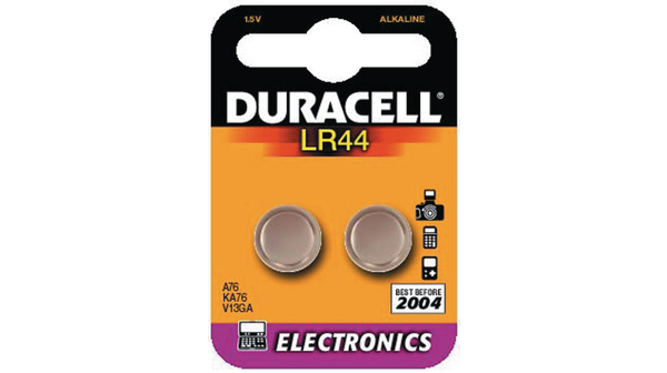 Buy Button Cell Battery, Alkaline 1.5 V 105 mAh PU=Pack of 2 pieces