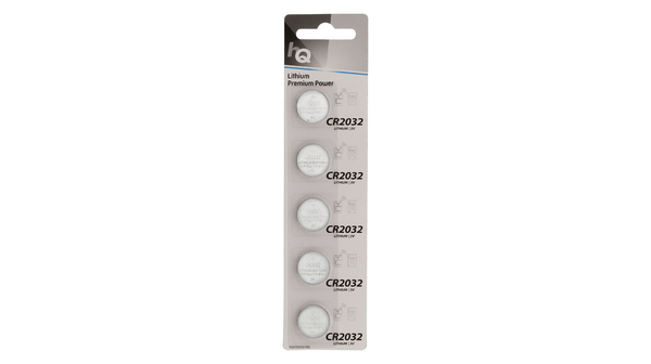 Buy Lithium Button Cell Battery 3 V 225 mAh PU=Pack of 5 pieces