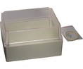 Buy Plastic Enclosure with Clear Lid 146x186x110mm Light Grey ABS/Polycarbonate IP65