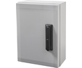 Buy Cabinet, PC-Grey cover, swinghandle, hinges on the long side, 800x600x300mm