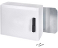 Buy Cabinet, PC-Grey cover with window, 2-point locking, hinges on the short side, 600x800x300mm
