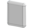 Buy Enclosure 252.55x210x40mm White ABS/Polycarbonate IP65
