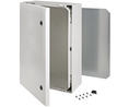 Buy Cabinet, Polycarbonate, 2-point locking,Hinges on the long side, 600x400x210mm, Light Grey, IP66