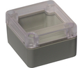 Buy Plastic Enclosure with Clear Lid 60x65x40mm Light Grey ABS IP65