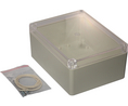 Buy Plastic Enclosure with Clear Lid 125x165x75mm Light Grey ABS/Polycarbonate IP65