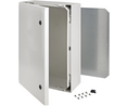 Buy Cabinet, Polycarbonate, 2-point locking,Hinges on the long side, 700x500x300mm, Light Grey, IP66