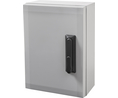 Buy Cabinet, PC-Grey cover, swinghandle, hinges on the long side, 400x300x210mm