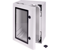 Buy Cabinet, PC-Grey cover with window, 2-point locking, hinges on the long side, 800x800x300mm