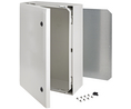 Buy Cabinet, Polycarbonate, 2-point locking,Hinges on the long side, 800x600x300mm, Light Grey, IP66