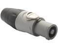 Buy XLR, Cable plug 3 HP Screw Connection grey