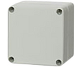 Buy Plastic Enclosure, Polycarbonate, Grey Cover, 82x85x80mm, Light Grey