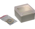 Buy Plastic Enclosure with Clear Lid 80x85x55mm Light Grey ABS IP65