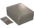 Buy Plastic Enclosure with Clear Lid 146x186x75mm Light Grey ABS/Polycarbonate IP65