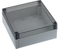 Buy Enclosure Polycarbonate, Smoked transparent cover, High base, 130 x 60 x 80 mm