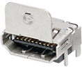 Buy HDMI connector SMD with flange 19