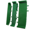 Buy Mini DIN Rail Support Base Element 11.25x20x92mm Green Polyamide IP20