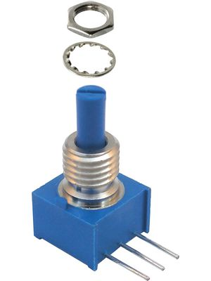 Leitplastik-Potentiometer 500 kΩ 3.18 mm 250 mW   300   ° linear