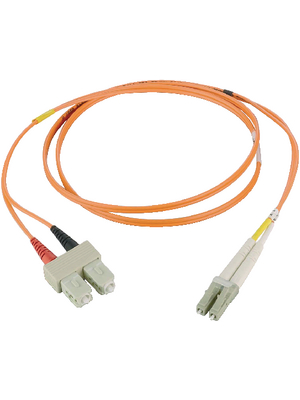 LWL-Kabel 62.5/125µm OM1 LC/SC 2.00 m orange